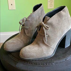 Franco Sarto gray suede booties
